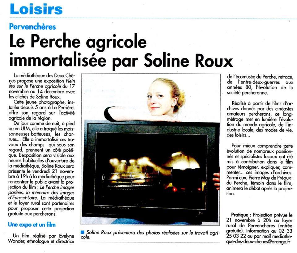 Exposition des clichés de Soline Roux